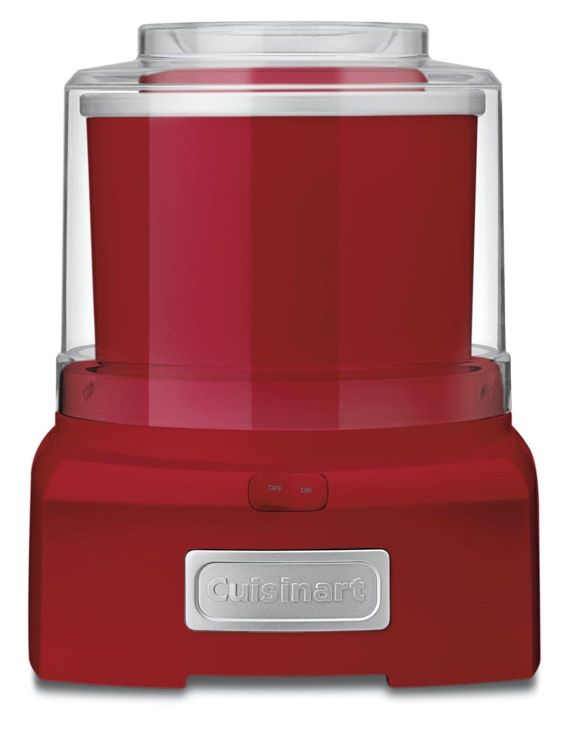 Cuisinart Automatic Frozen Yogurt, Ice Cream, and Sorbet Maker - Red ICE-21-RED