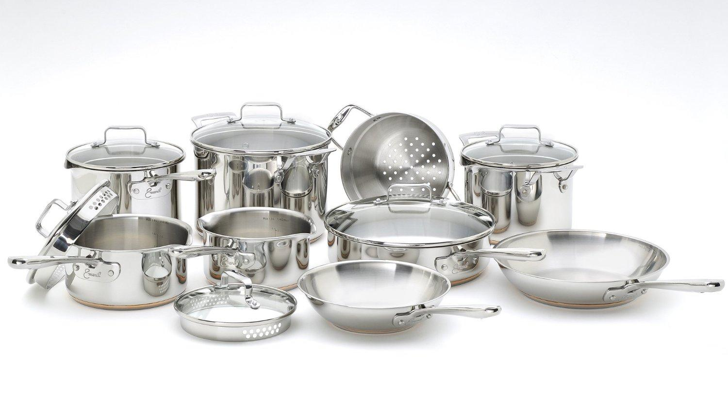 (R)Emeril Cookware - 14 Piece Stainless Steel Set