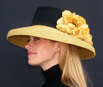 Large Brim Gambler/Black/Gold
