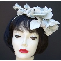 Grey Rose Fascinator