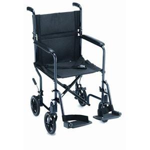 """Transport Chair 19"""" Lightweight Black"""