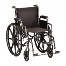 "Wheelchair Steel 18"" Detachable Arms And Footrests"
