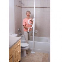 Security Pole & Curve Grab Bar White