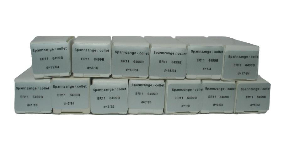 Spring Collet ER 11 Set  (13 pieces)