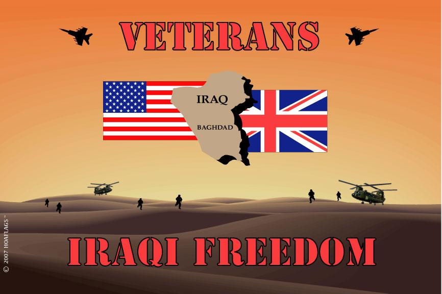 Operation Iraqi Freedom Veterans Flag
