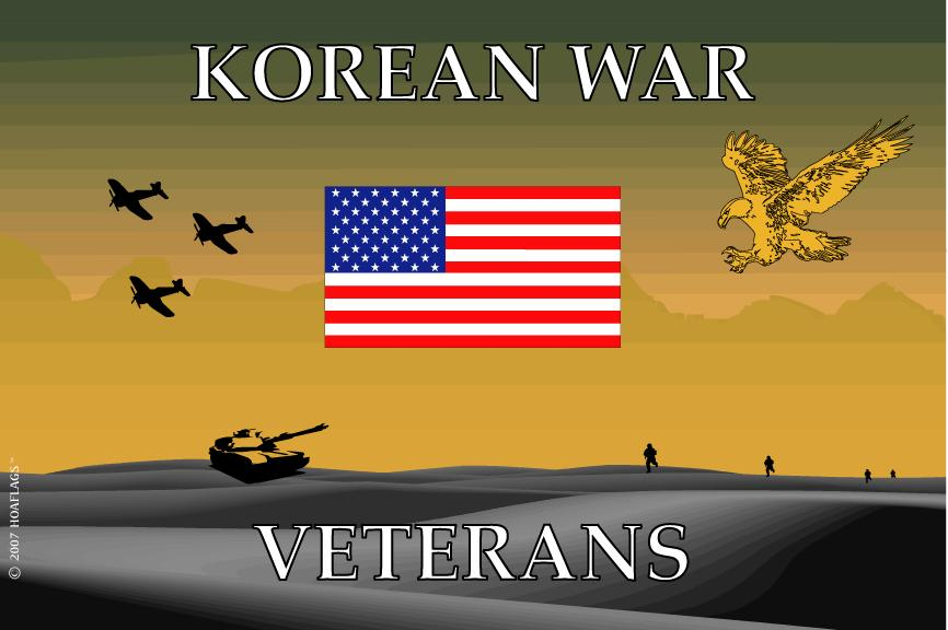 Korean War Remember Our Veterans Flag