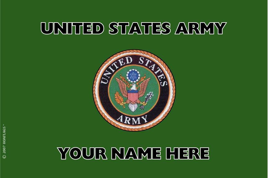 U.S Army Personalized Flag
