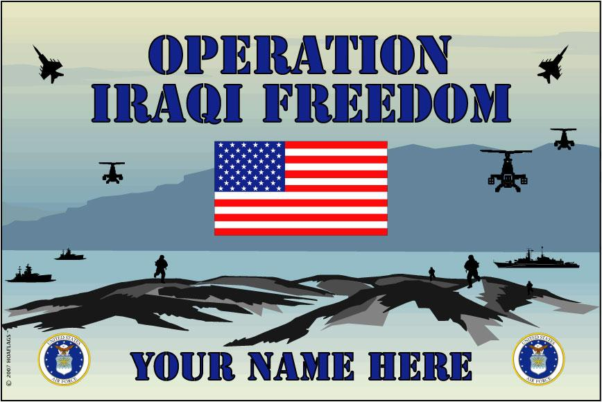 United States Personalized Air Force Flag-Iraqi Freedom