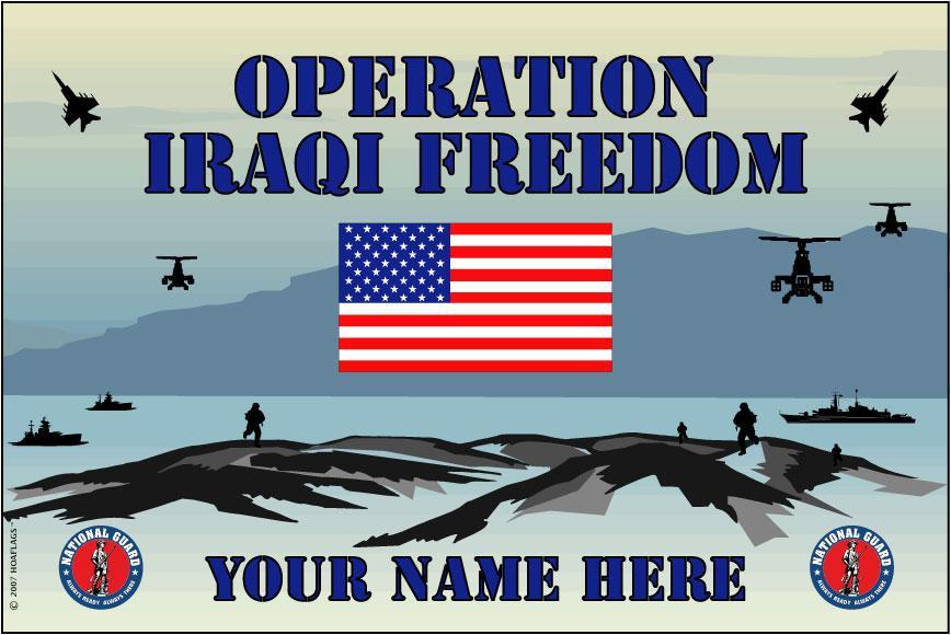 United States National Guard Personalized Flag-Iraqi Freedom