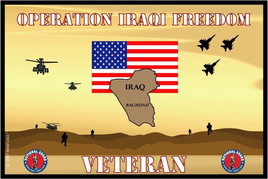 United States National Guard Flag-Iraqi Freedom