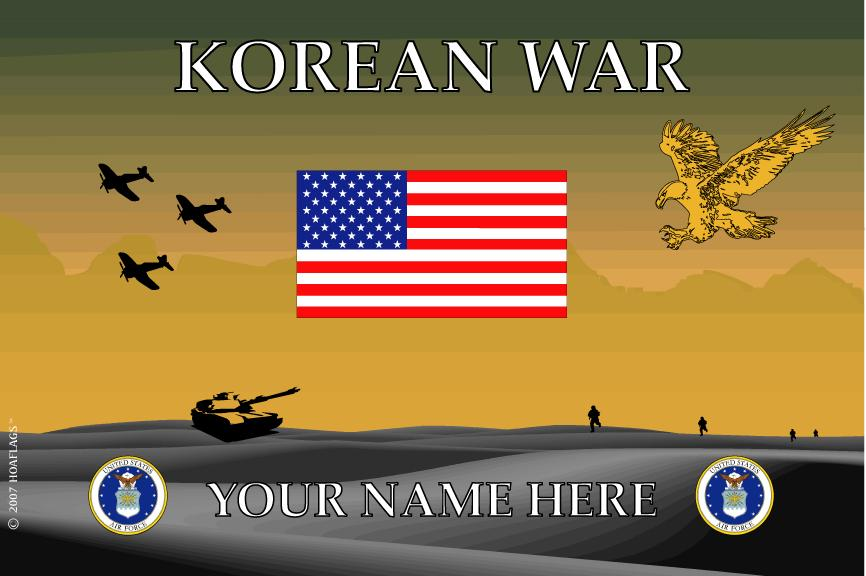 United States Air Force Personalized Flag- Korean War