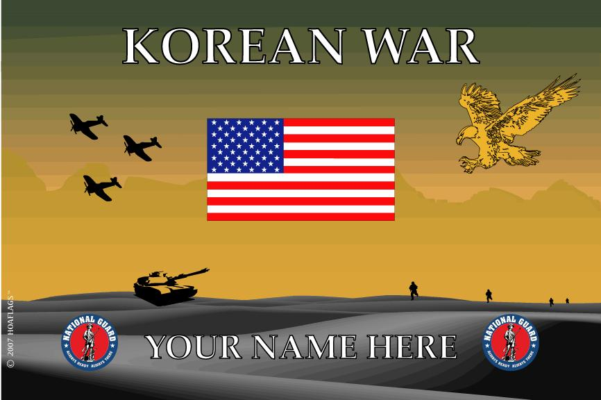 United States National Guard Personalized Flag- Korean War