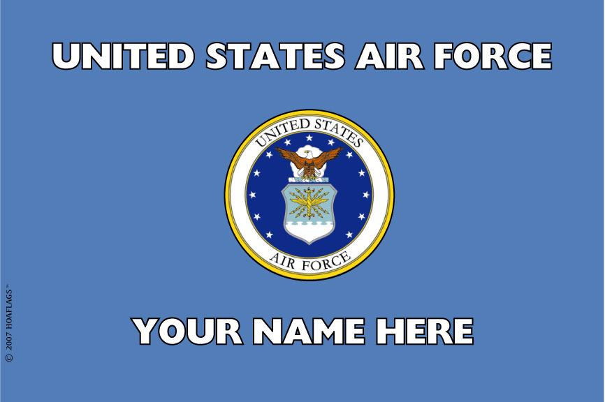 United States Air Force Personalized Flag