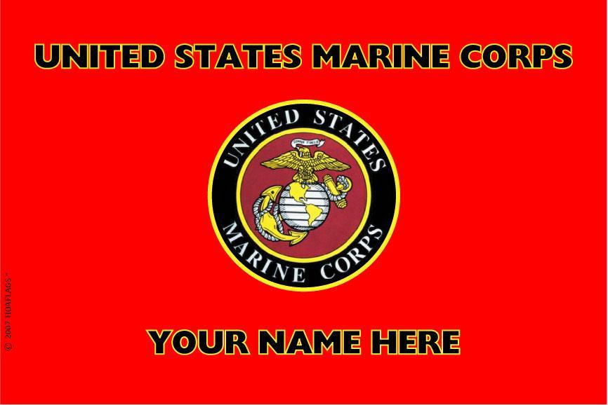 United States Marine Corps Personalized Flag