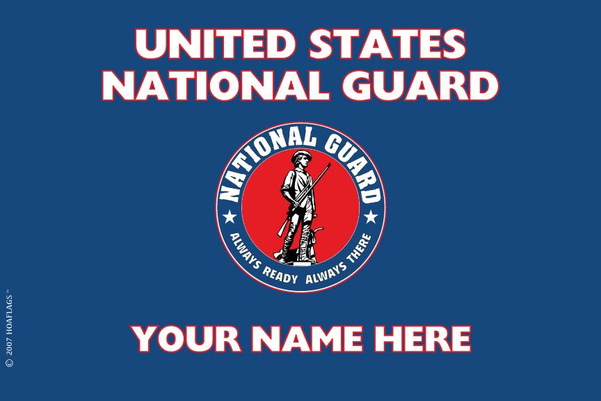United States National Guard Personalized Flag