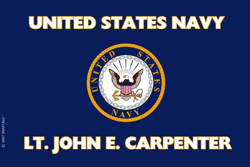 United States Navy Personalized Flag