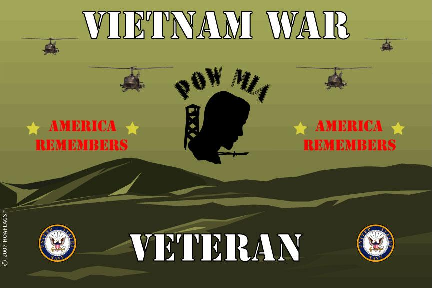 United States Navy Emblem Flag- Vietnam War