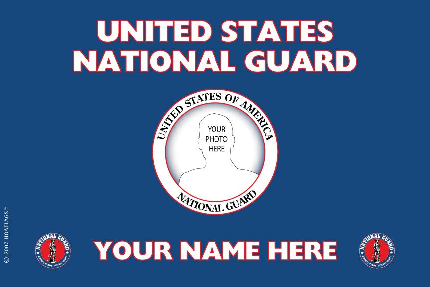 United States National Guard Personalized Photo Flag