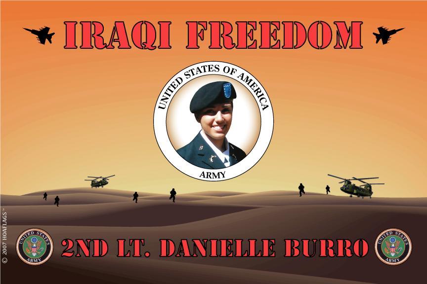 U.S Army Personalized Photo Flag-Iraqi Freedom