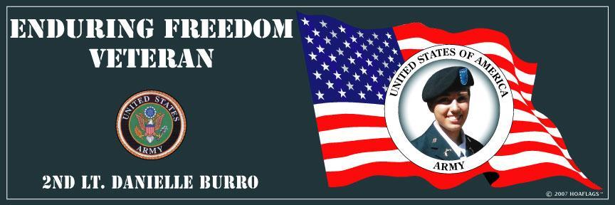 U.S Army Personalized Photo Bumper Sticker-Enduring Freedom