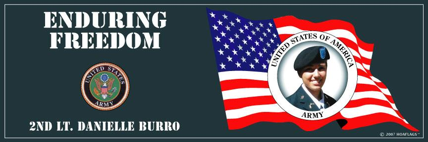U.S Army Personalized Photo Bumper Sticker-Enduring Freedom