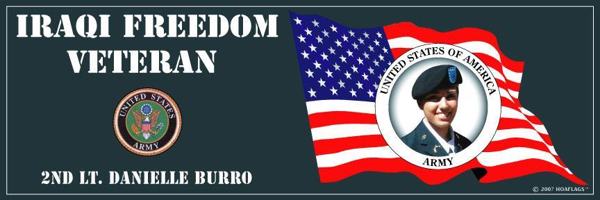 U.S Army Personalized Photo Bumper Sticker-Iraqi Freedom