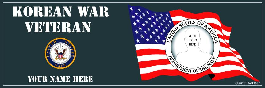U.S. Navy Personalized Photo Bumper Sticker-Korean War