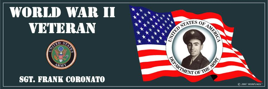 U.S Army Personalized Photo Bumper Sticker-World War II