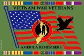 Vietnam War Remember Our Veterans Sticker