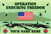 United States National Guard Personalized Flag-Enduring Freedom