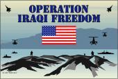 Operation Iraqi Freedom Flag