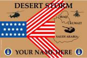 United States Personalized Air Force Flag-Desert Storm