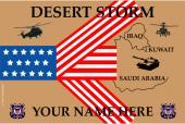 United States Personalized Coast Guard Flag- Desert Storm