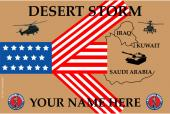 United States National Guard Personalized Flag-Desert Storm