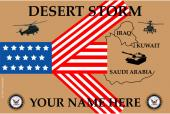 United States Personalized Navy Flag- Desert Storm