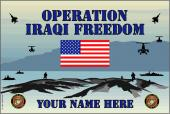 United States Personalized Marine Corps Flag-Iraqi Freedom