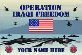 United States National Guard Personalized Flag-Iraqi Freedom