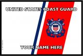 United States Personalized Coast Guard Flag