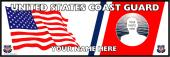 U.S Coast Guard Personalized Photo Bumper Sticker
