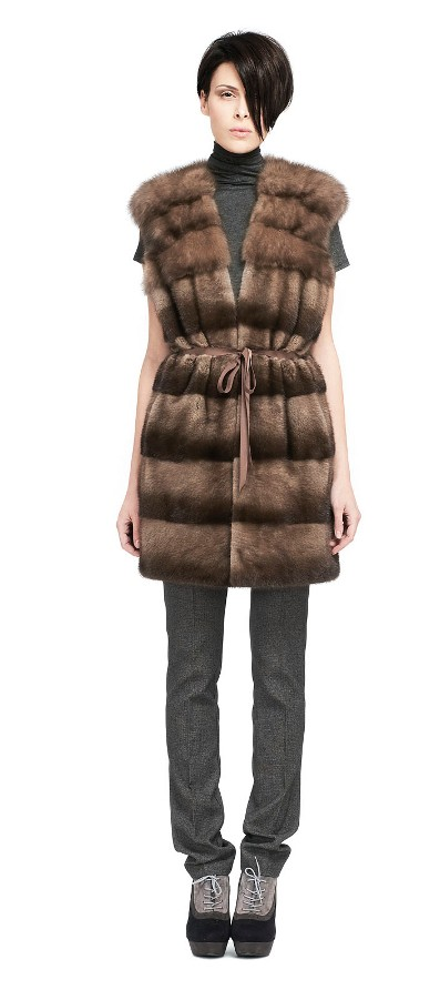 MINK VEST WITH SABLE