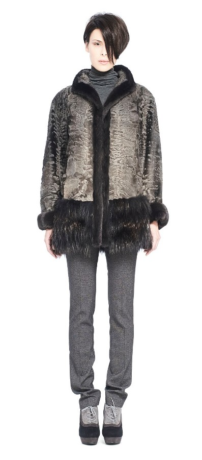 BROADTAIL JACKET WITH MINK AND FOX