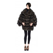 DARK SABLE JACKET WITH MINK