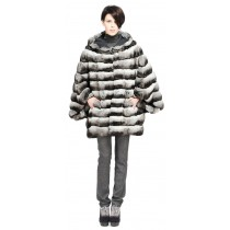 NATURAL CHINCHILLA JACKET WITH MINK