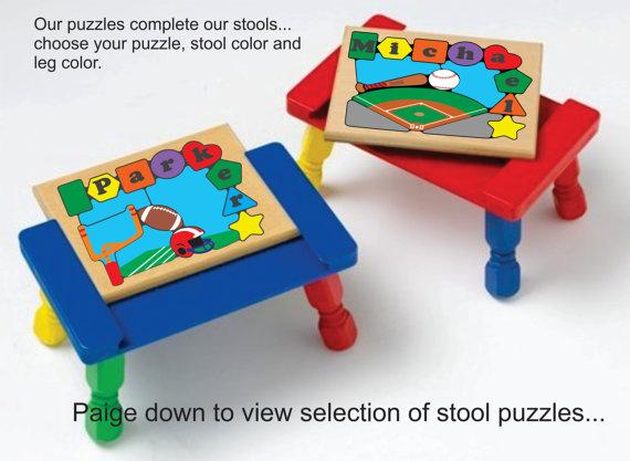 Sports Puzzles & Stools