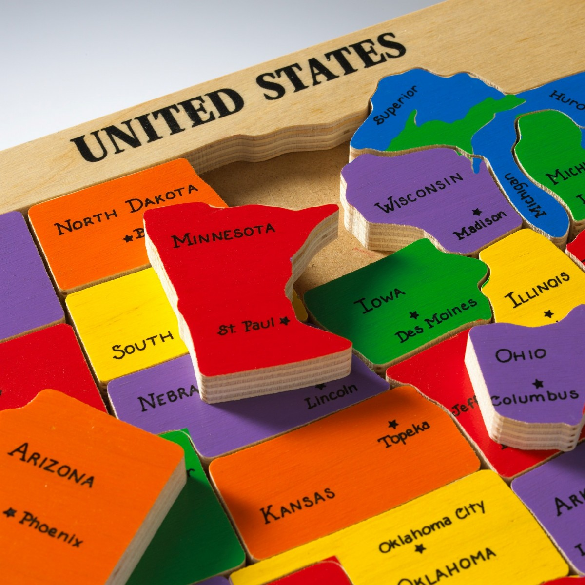 Diagram Collection Us Map Puzzle Sheppard More Maps Diagram And - Us map with capitals interactive