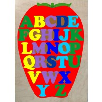 Personalized Name ABC Apple Theme Puzzle (FREE SHIPPING)