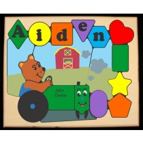 Personalized Name Tractor Bear Theme Puzzle (FREE SHIPPING)