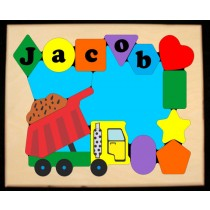 Personalized Name Dump Truck Theme Puzzle (FREE SHIPPING)