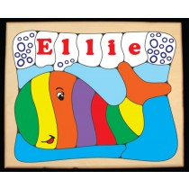 Personalized Name Whale Theme Puzzle (FREE SHIPPING)