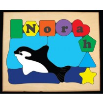 Personalized Name Orca Whale Theme Puzzle (FREE SHIPPING)